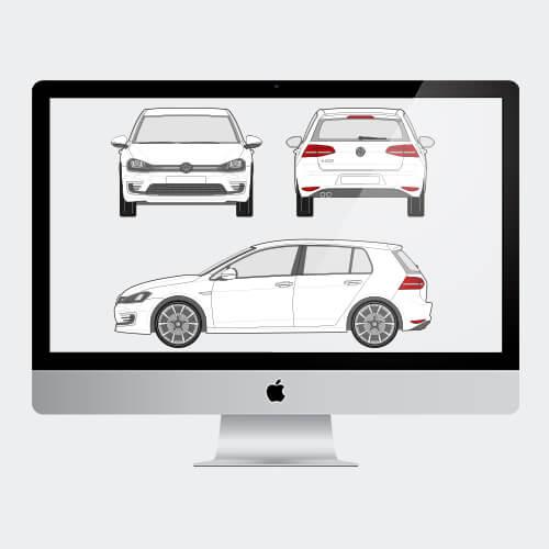 Car Special voertuig tekeningen